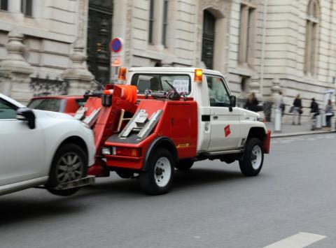 La récupération des véhicules financés.